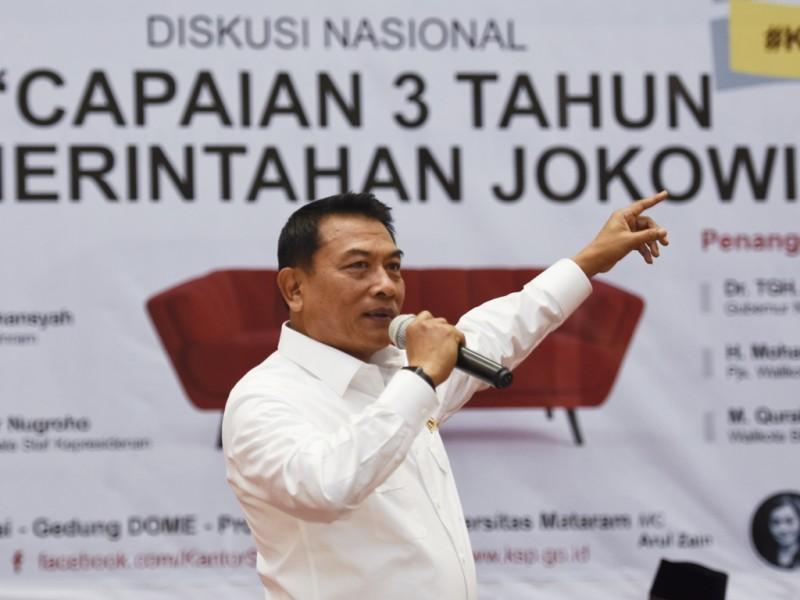 Kepala Staf Kepresidenan Moeldoko. (Foto: Antara/Ahmad Subaidi).