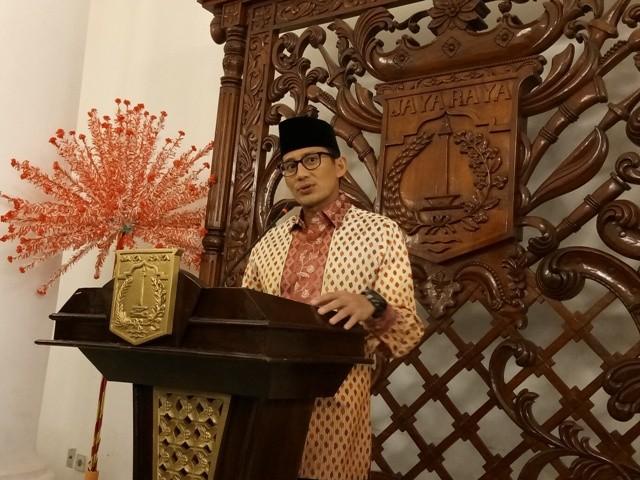 Wakil Gubernur DKI Jakarta Sandiaga Uno--Medcom.id/Siti Yona Hukmana