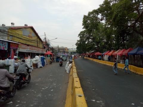 Suasana di Jalan Jatibaru Raya di awal Ramadan 1439 Hijriah.