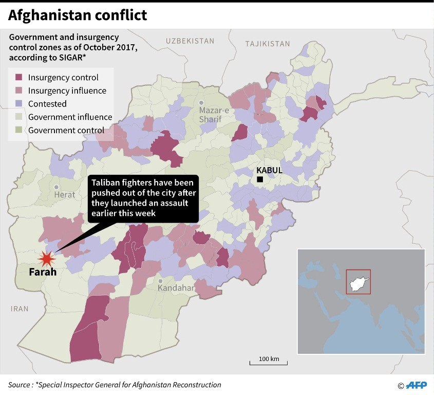 Lokasi tempat terjadinya bentrokan. (Foto: AFP)