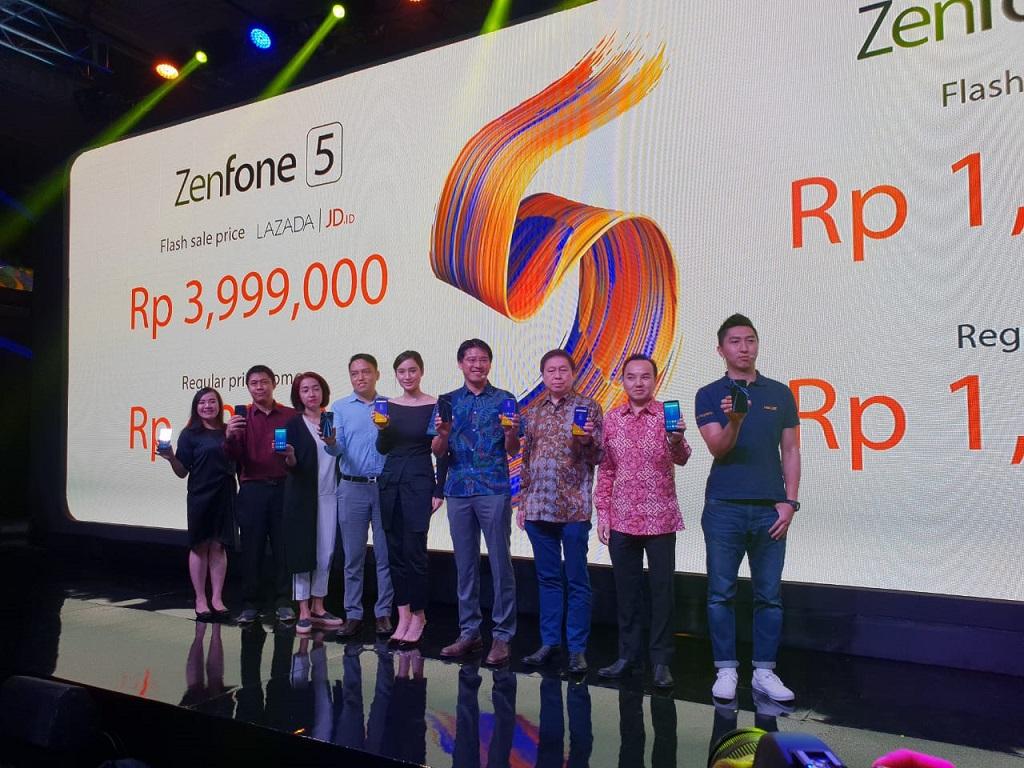 Asus Zenfone 5, ZenFone 5z dan ZenFone Live L1 dirilis untuk Indonesia hari ini, 17 Mei 2018.