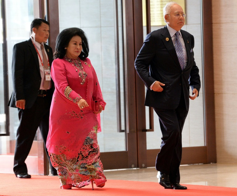 Ousted prime minister Najib Razak and his wife Rosmah Mansor have long been suspected of benefiting form the looting of Malaysian state funds. (Photo:AFP/Roslan Rahman)