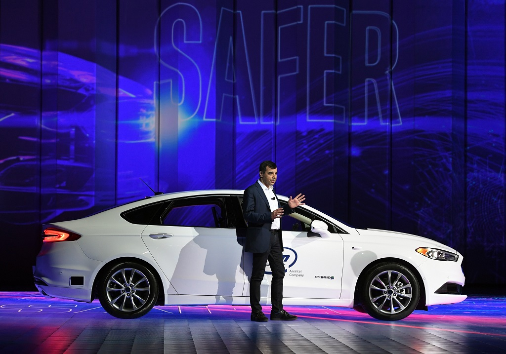 CEO Mobileye Amnon Shashua. (Ethan Miller/Getty Images/AFP)