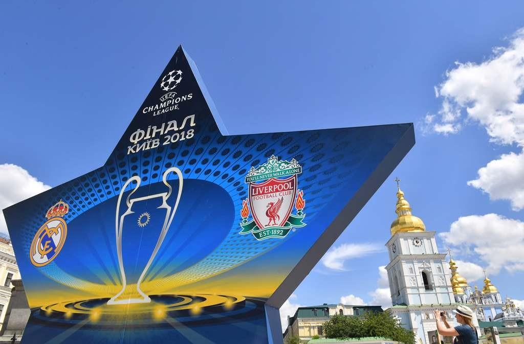 Suasana jelang laga final Liga Champions di kota Kiev (Foto: AFP/Sergei Supinsky)