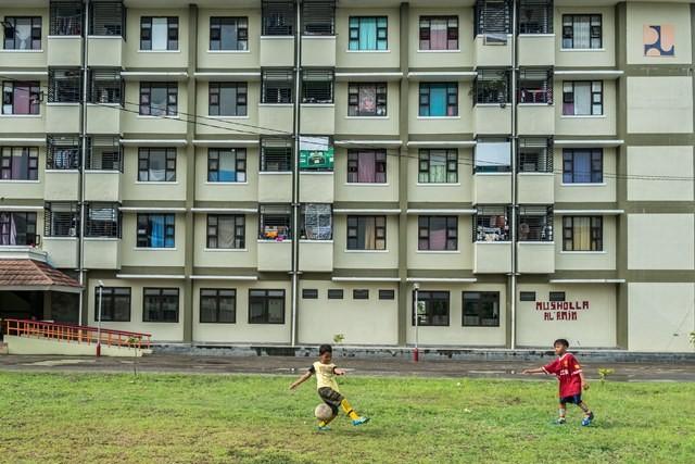 Rumah susun merupakan pilihan hunian layak tinggal dengan harga terjangkau di perkotaan. Antara Foto.