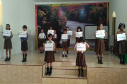 Siswa SD di Sumenep Gelar Aksi 'Save NKRI'