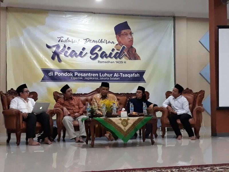 Diskusi Kiai Said dan Media di Pondok Pesantren Luhur Al- Tsaqafah. (Foto: Medcom.id/ Marcheilla Ariesta).