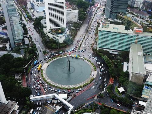 Kondisi Jakarta saat hujan. (Foto: MI/ M Taufan SP Bustan).
