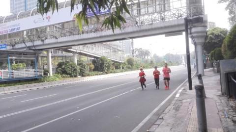 Minggu Pertama Puasa, CFD Sudirman-Thamrin Sepi