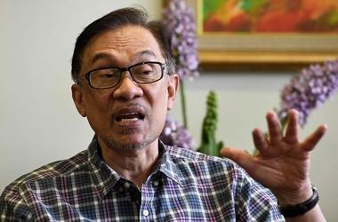 Anwar Ibrahim dalam wawancara dengan AFP di Kuala Lumpur, .