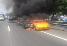Kebakaran Mobil Sport di Tol Slipi Diduga Akibat