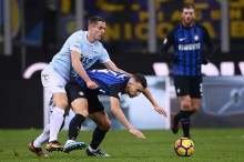 Sengit, Lazio Ungguli Inter di Babak Pertama