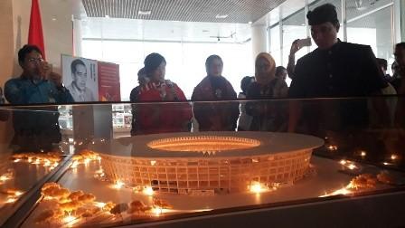 Suasana di Pameran Temporer Asian Games yang bertema  Dua
