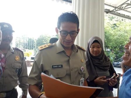 Wagub DKI Sandiaga Uno/Medcom.id/Siti Yonna