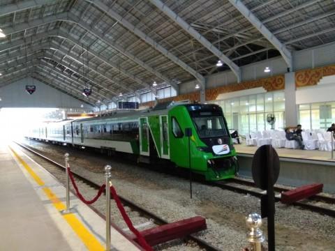 Kereta Bandara Minangkabau Ekspres. Foto: Medcom.id/Desi Angriani