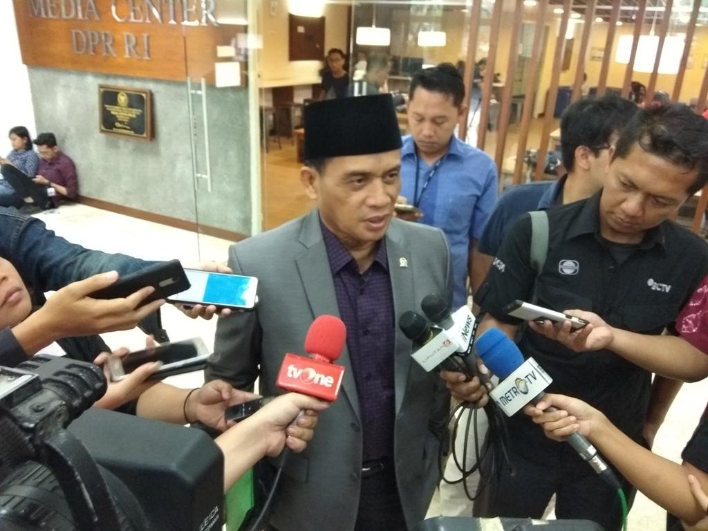 Ketua Panitia Kerja (Panja) Revisi Undang-Undang Pemberantasan Tindak Pidana Terorisme, Muhammad Syafi'i. (Foto: Medcom.id/Whisnu Mardiansyah).