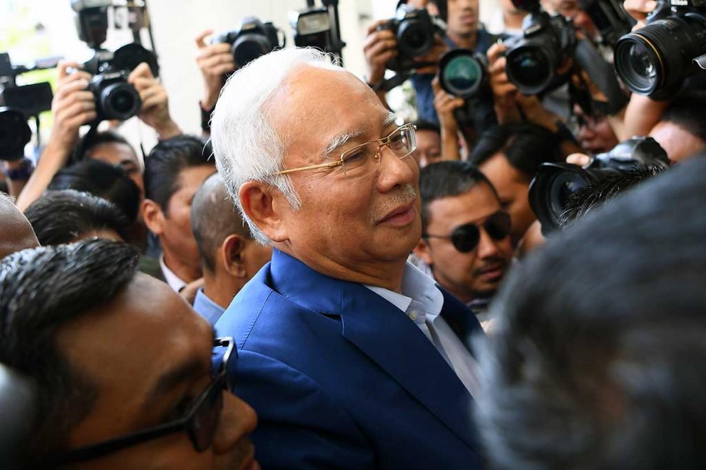 Najib Razak Tiba di Gedung KPK Malaysia