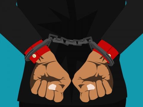 Tersangka ditangkap. ilustrasi: Medcom.id.