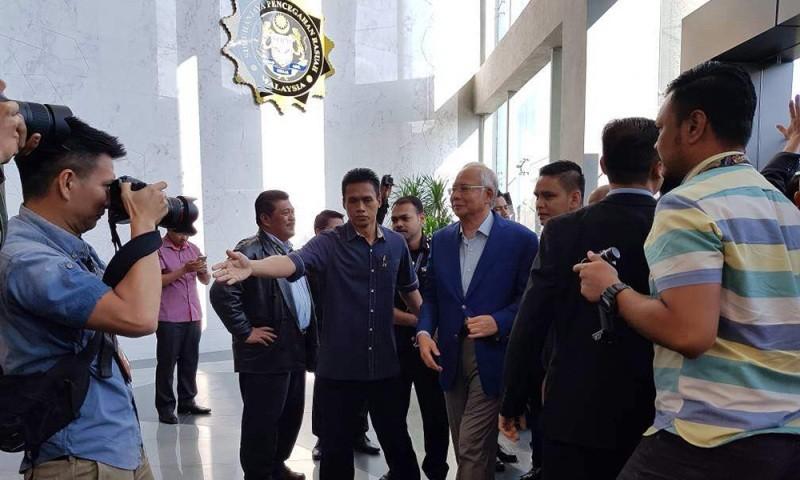 Mantan PM Malaysia Najib Razak diperiksa atas tuduhan korupsi 1MDB (Foto: Malaysia Kini).