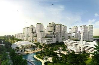 Jurong, pusat bisnis dengan taman rakasa