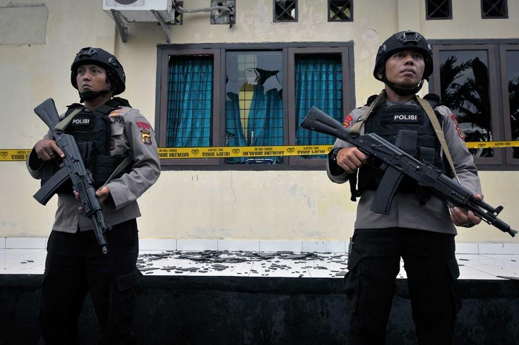 Polisi Dalami Motif Penyerangan Polsek Maro Sebo Jambi