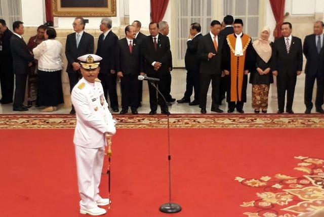 Siwi Sukma Adji dilantik menjadi kepala staf TNI Angkatan Laut (KSAL). Foto: Medcom.id/Achmad Zulfikar Fazli