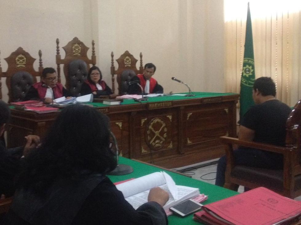 Majelis Hakim Pengadilan Negeri Medan saat membacakan putusan untuk M Ilyas. Medcom.id/Farida Noris
