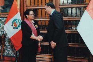 Menlu Retno Dianugerahi Penghargaan Tertinggi dari Peru