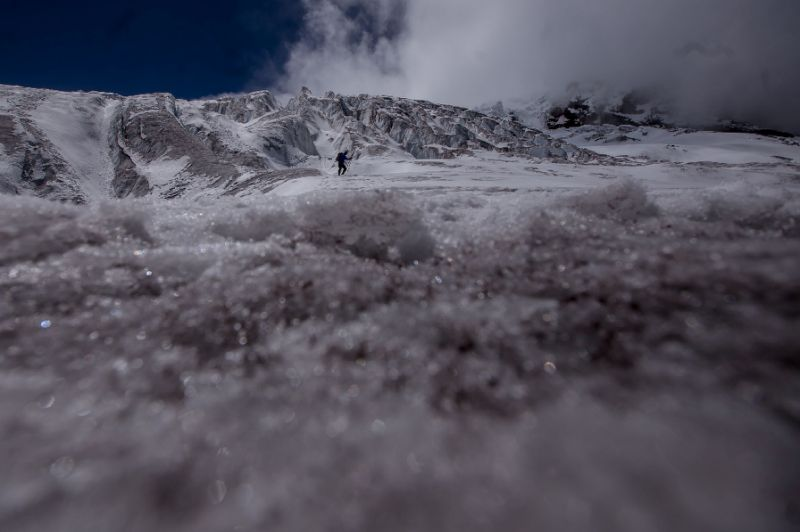 The Antisana volcano glacier east of Quito, Ecuador, is melting rapidly, one more sign of the massive changes global warming is having around the world. (Photo:AFP/Juan Cevallos)