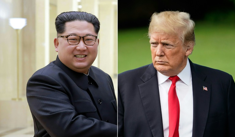 US President Donald Trump informed Kim Jong Un he is canceling their nuclear summit next month in Singapore, in a letter released by the White House. (Photo:AFP/Mandel Ngan, KCNA via KNS)