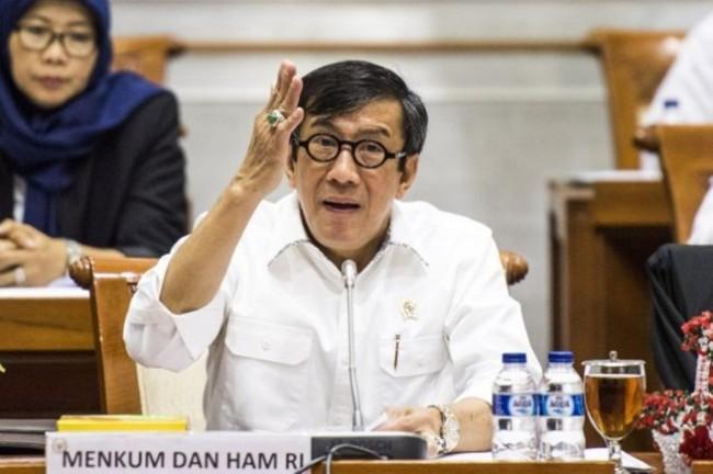 Menteri Hukum dan Hak Asasi Manusia Yasonna Laoly. Foto: Antara/Agung Rajasa.