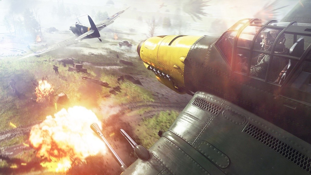 Potongan gameplay di Battlefield V.