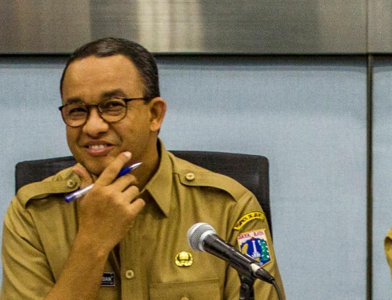 Gubernur DKI Jakarta Anies Baswedan--Antara/Galih Pradipta