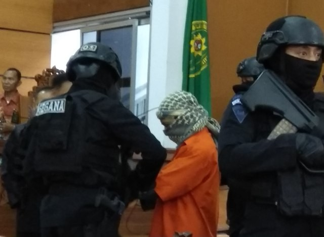 Terdakwa kasus teroris Aman Abdurrahman--Medcom.id/Fachri Audhia Hafiez.