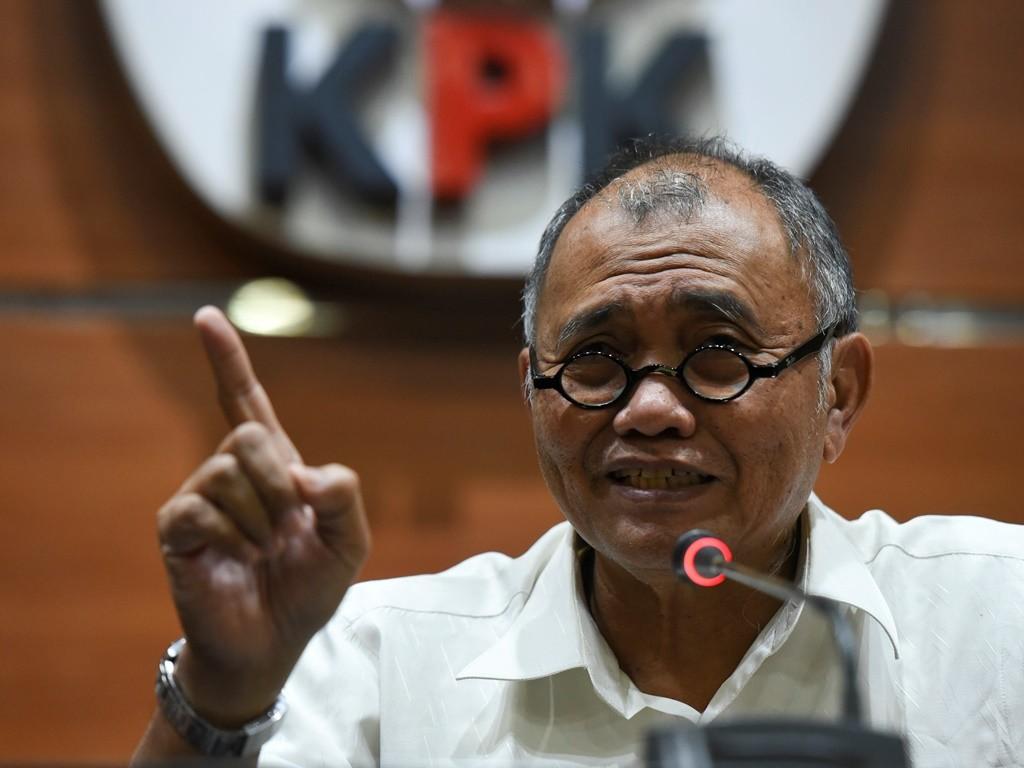 Ketua KPK Agus Rahardjo. (Foto: Antara/Hafidz Mubarak A).