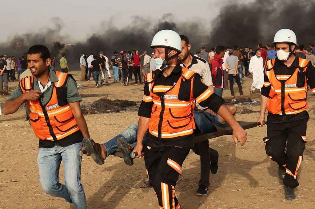 109 Pemrotes Palestina Cedera Ditembak Israel