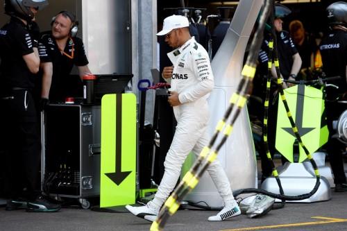 Pembalap Mercedes Lewis Hamilton (Foto: AFP)