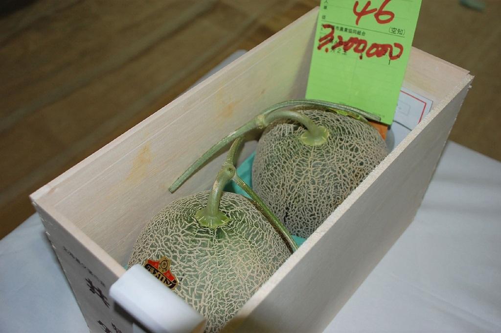 Sepasang melon Yubari terjual lebih dari Rp400 juta. (Foto: AFP/Jiji Press)