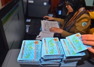 KTP-el Tercecer di Bogor Barang Bukti Kasus Korupsi