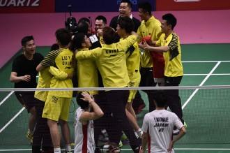 Tiongkok Juara Piala Thomas 2018