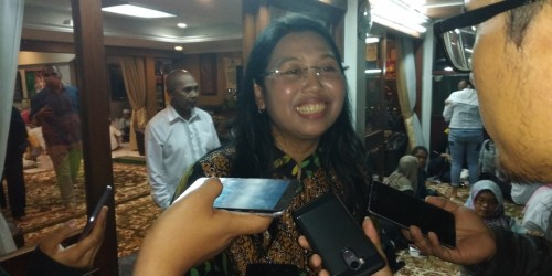 Anggota Komisi X DPR RI Yayuk Basuki saat menghadiri buka puasa