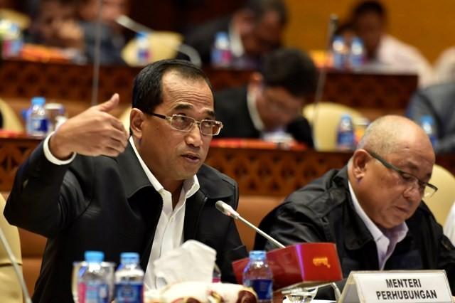 Menteri Perhubungan Budi Karya Sumadi. Foto: Antara/Puspa Perwitasari