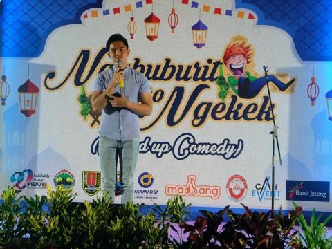 Kaesang <i>Stand-Up Comedy</i> di Kantor Gubernur Jateng