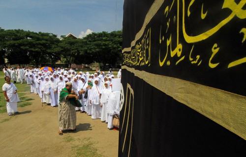 Manasik Haji. Foto: Antara/Rahmad.
