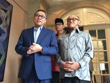 Ketua MPR Zulkifli Hasan dan ARB/Medcom.id/Lis Pratiwi