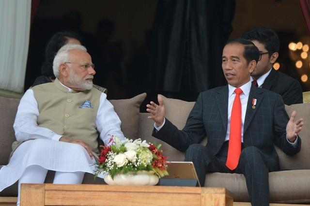President Joko Widodo and Indian Prime Minister Nardendra Modi (Photo:Ant/Wahyu Putro)