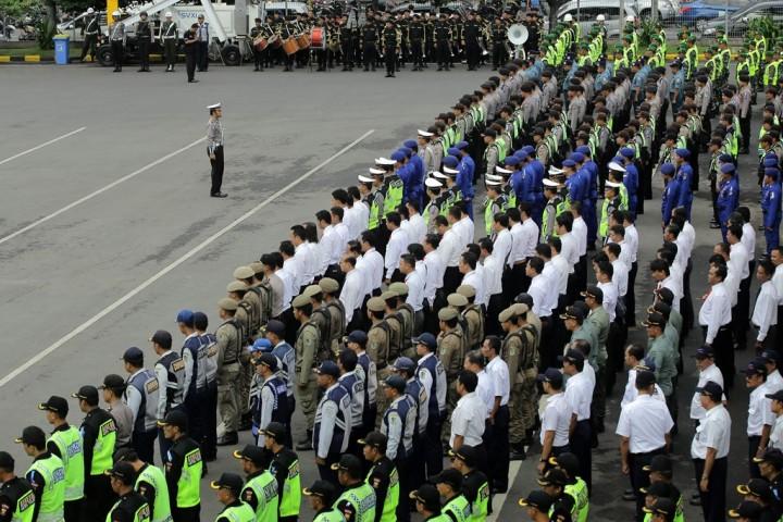 Ratusan Personel Gabungan Jaga Arus Mudik di Depok