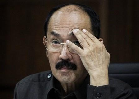 Terdakwa perkara merintangi penyidikan kasus korupsi KTP-el, Fredrich Yunadi - ANT/Dhemas Reviyanto.