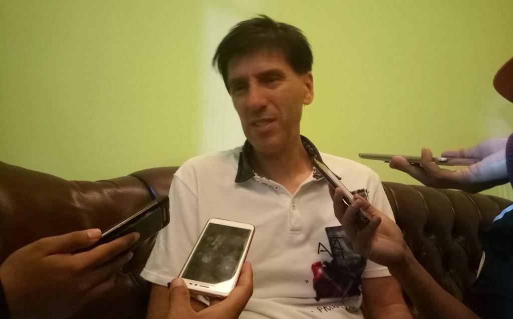 Pelatih Arema FC, Milan Petrovic. (Foto: medcom.id/Daviq Umar)