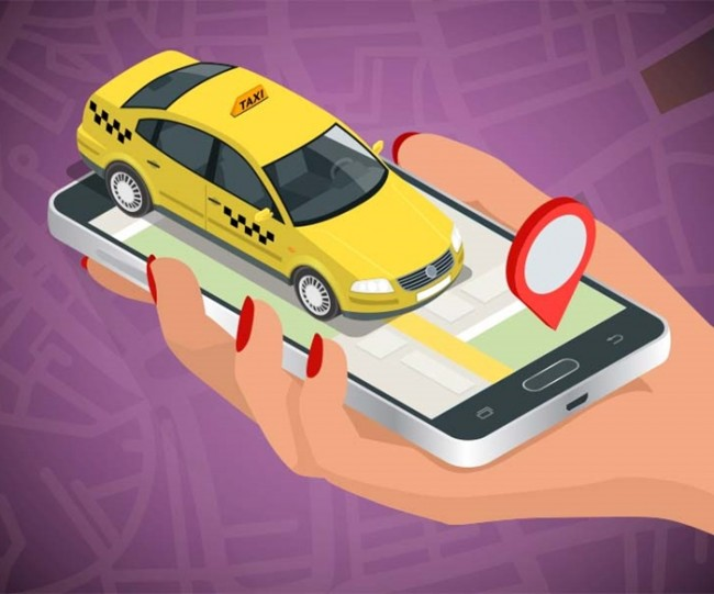 Ilustrasi taksi daring - Medcom.id